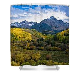 Mount Sneffels Under Autumn Sky Shower Curtain
