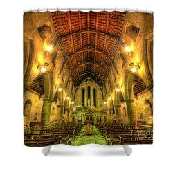 Mount St Bernard Abbey - The Nave Shower Curtain by Yhun Suarez