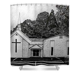 Mount Union Church Of The Brethren Shower Curtain by Julie Brugh Riffey