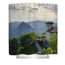 Mountain Bre Shower Curtain