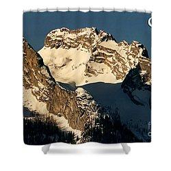 Mountain Christmas Austria Europe Shower Curtain by Sabine Jacobs