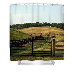 Mountain Farmland Shower Curtain