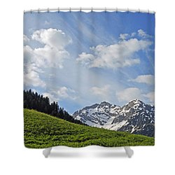 Mountain Landscape In The Alps Shower Curtain by Matthias Hauser