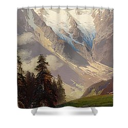 Mountain Landscape With The Grossglockner Shower Curtain by Nicolai Astudin