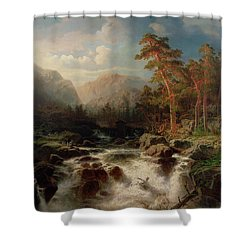 Mountain Torrent Smaland Shower Curtain by Marcus Larson