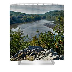 Mountain View Shower Curtain by Karol Livote