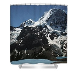 Mountain With Glacier And Snow Shower Curtain by Kelly Redinger