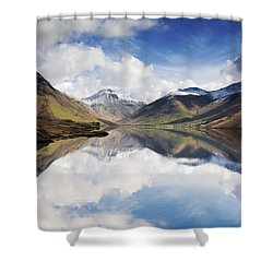 Mountains And Lake, Lake District Shower Curtain