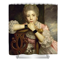 Mrs Abington As Miss Prue In Congreve's 'love For Love'  Shower Curtain by Sir Joshua Reynolds