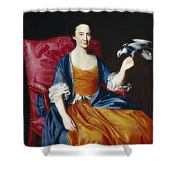 Mrs. Benjamin Hallowell Shower Curtain by John Singleton Copley