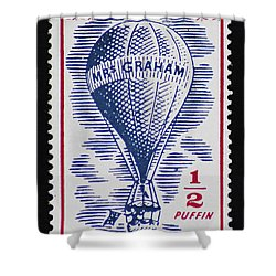 Shower Curtain featuring the photograph Mrs Graham The Balloonist by Andy Prendy