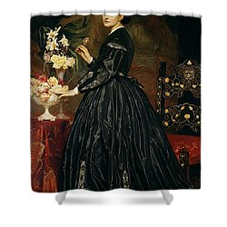Mrs James Guthrie Shower Curtain by Frederic Leighton
