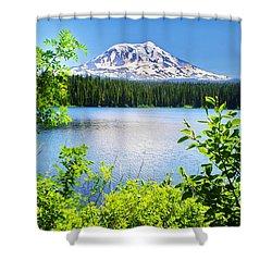 Mt Adams And Takhlakh Lake Shower Curtain