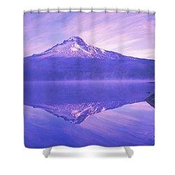Mt. Hood And Trillium Lake Mt Hood Shower Curtain by Dan Sherwood
