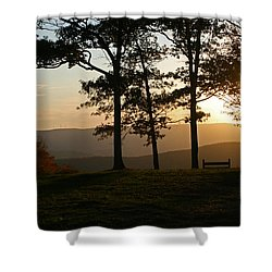 Mt Pisqah Sunset 2 Shower Curtain