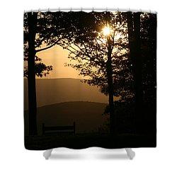 Mt Pisqah Sunset Shower Curtain