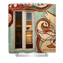 Mu Wall Shower Curtain by Aimelle