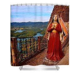 Mujer De La Piedra Shower Curtain by Skip Hunt