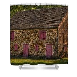 Mule Barn  Shower Curtain by Susan Candelario
