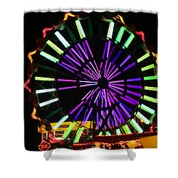 Shower Curtain featuring the photograph Multi Colored Ferris Wheel by Kym Backland