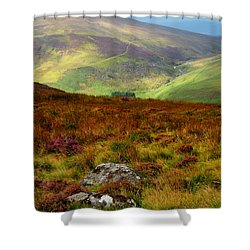 Multicolored Hills Of Wicklow. Ireland Shower Curtain by Jenny Rainbow