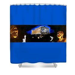 Mural - Night Shower Curtain