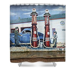 Mural Art At Consul Shower Curtain by Bob Christopher
