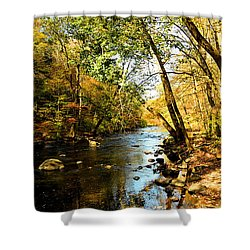 Musconetcong River Shower Curtain by Brian Hughes