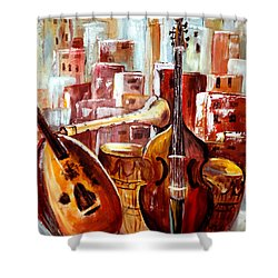 Music Of Morocco Shower Curtain