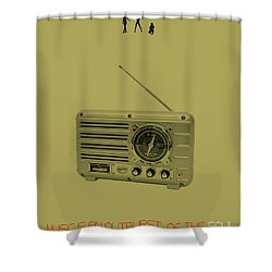 Music Of Soul Poster Shower Curtain by Naxart Studio