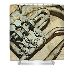 Music Of The Past Shower Curtain by Jutta Maria Pusl