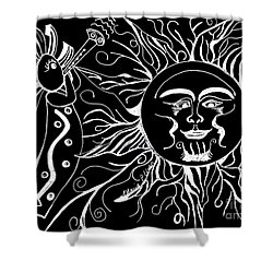 Musical Sunrise - Inverted Shower Curtain by Maria Urso