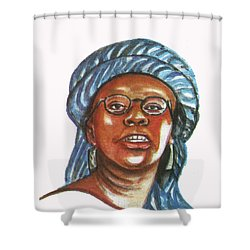 Musimbi Kanyoro Shower Curtain by Emmanuel Baliyanga