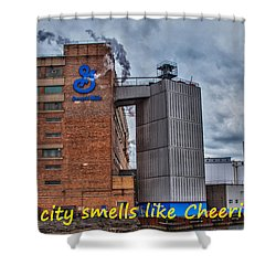 My City Smells Like Cheerios Shower Curtain