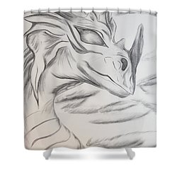 My Dragon Shower Curtain by Maria Urso