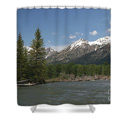 My Favorite Of The Grand Tetons Shower Curtain by Living Color Photography Lorraine Lynch