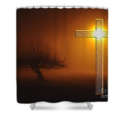 Shower Curtain featuring the photograph My Life In God's Hands 3 To 4 Ration by Clayton Bruster