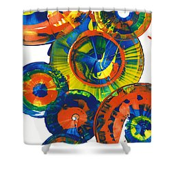 My Magical Spheres    859.121811 Shower Curtain by Kris Haas