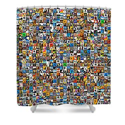 My Mosaic Shower Curtain by Mauro Celotti