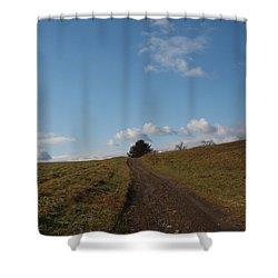 My Road Shower Curtain by Robert Margetts