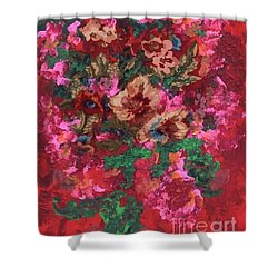 Shower Curtain featuring the painting My Sister's Garden I by Alys Caviness-Gober