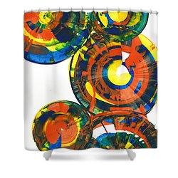 My Spheres Show Happiness  864.121811 Shower Curtain by Kris Haas