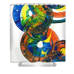 My Spherical Joy '' Jump Up ''  858.121711 Shower Curtain