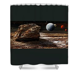 My View From Mars 2 Shower Curtain by Kaye Menner