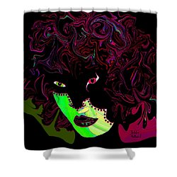 Mysterious Masquerade Shower Curtain by Natalie Holland
