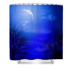 Mystic Night Shower Curtain by Mark Ashkenazi