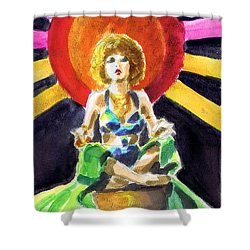 Mystic Vamp Shower Curtain by Mel Thompson