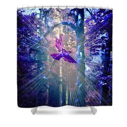 Mystical Wings Shower Curtain by Amanda Eberly-Kudamik