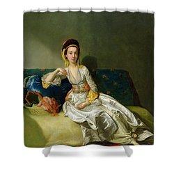 Nancy Parsons In Turkish Dress Shower Curtain by George Willison