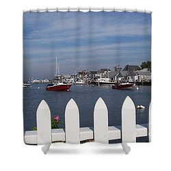 Nantucket Harbor Shower Curtain